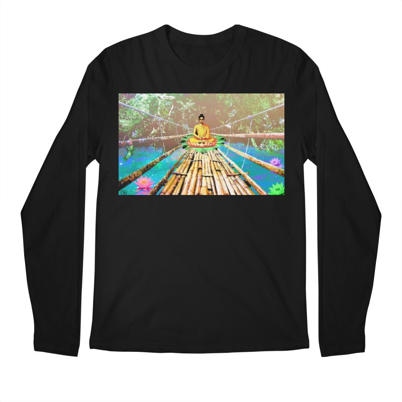 A Bridge to Buddha Men's Regular Longsleeve T-Shirt by InspiredPsychedelics's Artist Shop