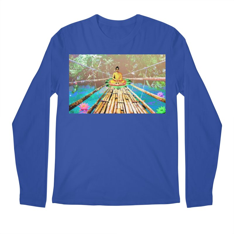 A Bridge to Buddha Men's Regular Longsleeve T-Shirt by InspiredPsychedelics's Artist Shop