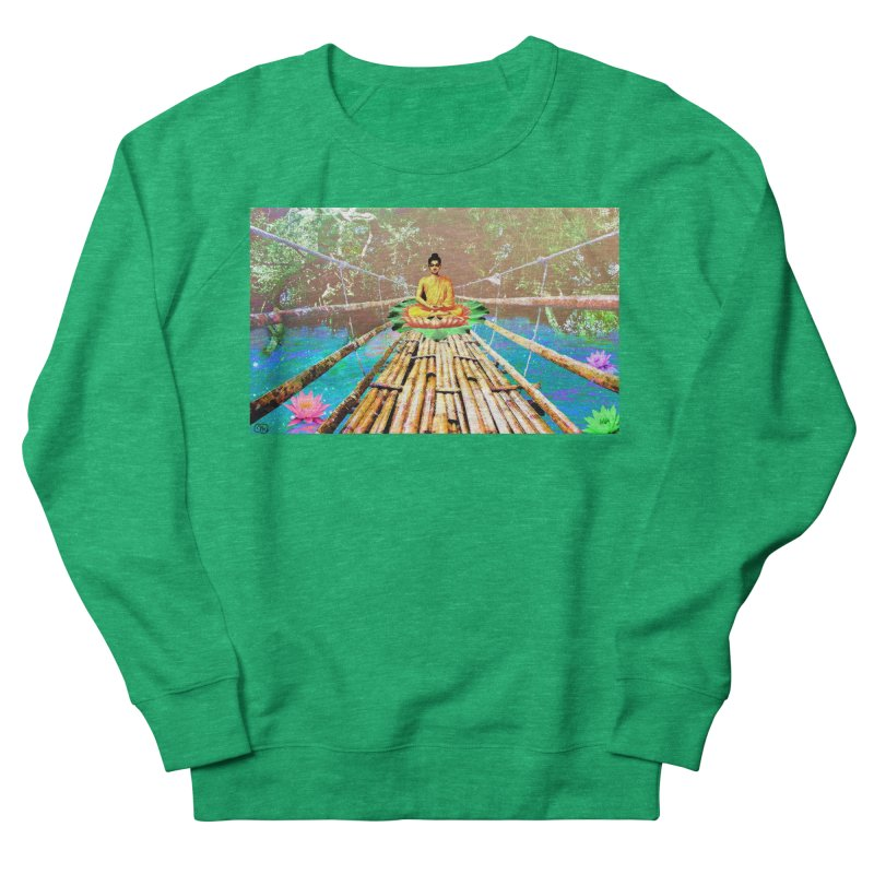 A Bridge to Buddha Women's French Terry Sweatshirt by InspiredPsychedelics's Artist Shop