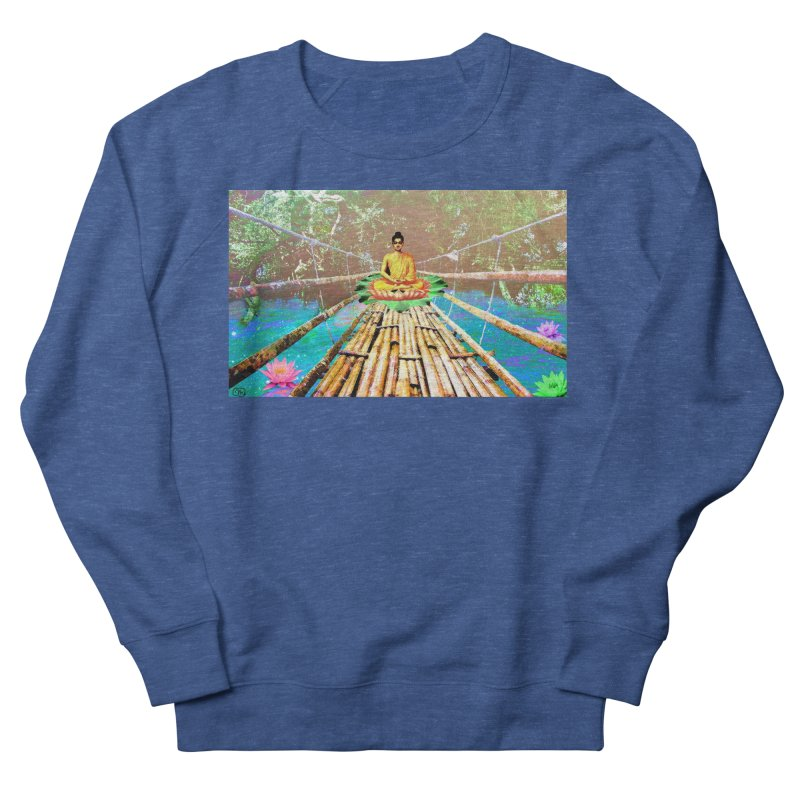 A Bridge to Buddha Men's French Terry Sweatshirt by InspiredPsychedelics's Artist Shop