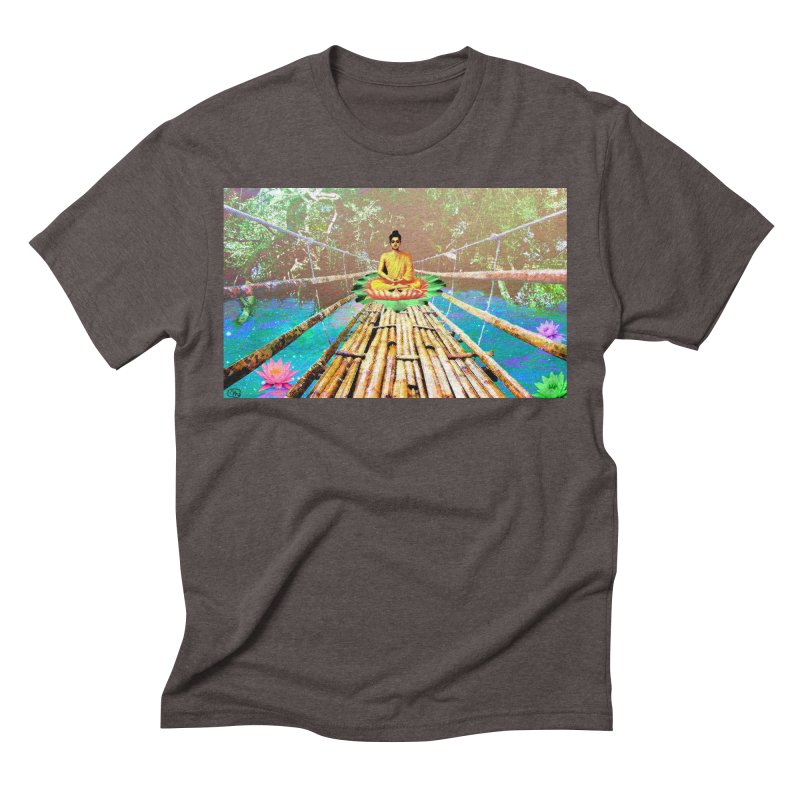 A Bridge to Buddha Men's Triblend T-Shirt by InspiredPsychedelics's Artist Shop