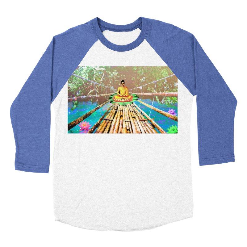 A Bridge to Buddha Women's Baseball Triblend T-Shirt by InspiredPsychedelics's Artist Shop