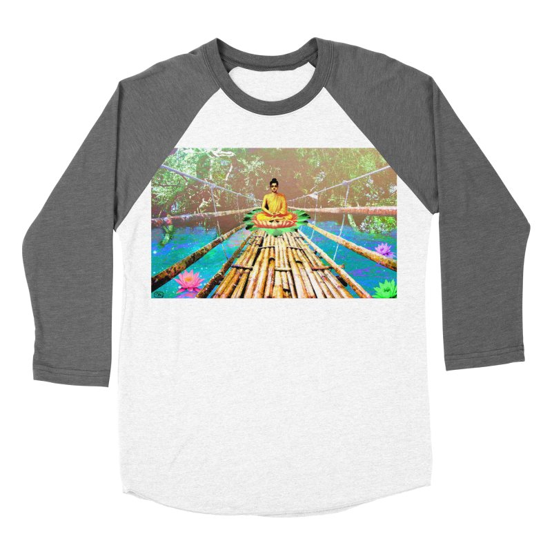 A Bridge to Buddha Women's Baseball Triblend Longsleeve T-Shirt by InspiredPsychedelics's Artist Shop