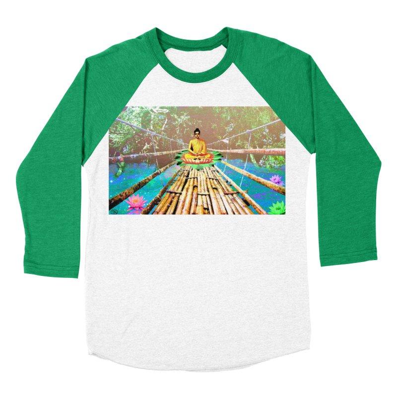 A Bridge to Buddha Women's Baseball Triblend Longsleeve T-Shirt by InspiredPsychedelics's Artist Shop