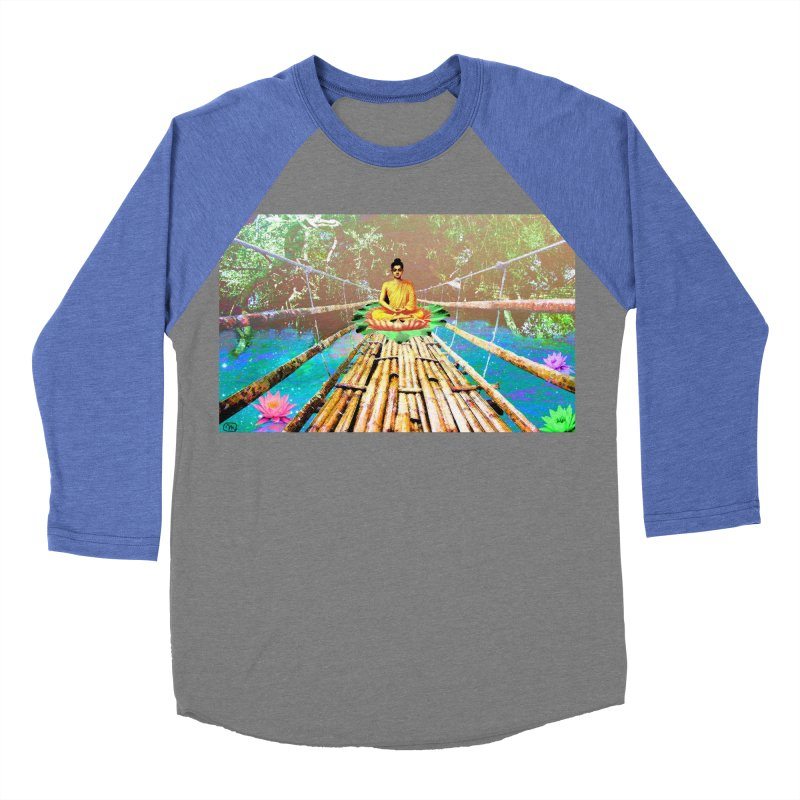 A Bridge to Buddha Men's Baseball Triblend T-Shirt by InspiredPsychedelics's Artist Shop