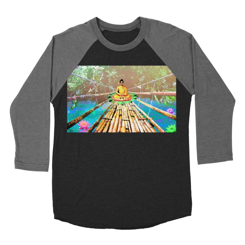 A Bridge to Buddha Men's Baseball Triblend Longsleeve T-Shirt by InspiredPsychedelics's Artist Shop