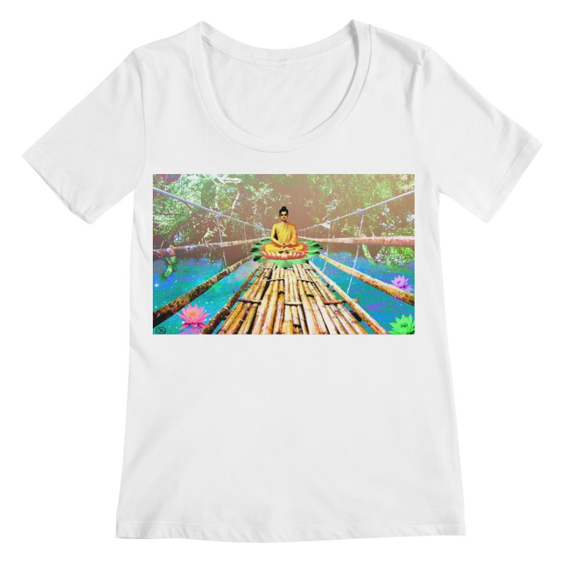 A Bridge to Buddha Women's Regular Scoop Neck by InspiredPsychedelics's Artist Shop