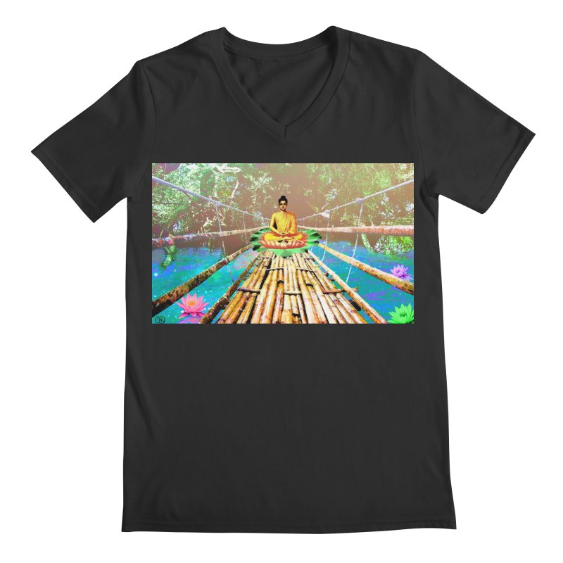 A Bridge to Buddha Men's V-Neck by InspiredPsychedelics's Artist Shop