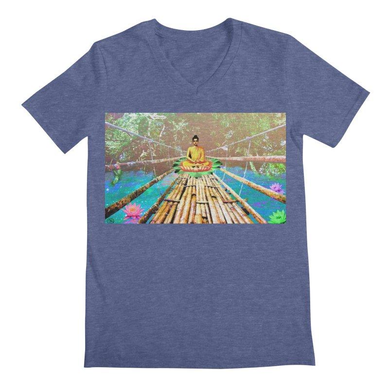 A Bridge to Buddha Men's Regular V-Neck by InspiredPsychedelics's Artist Shop