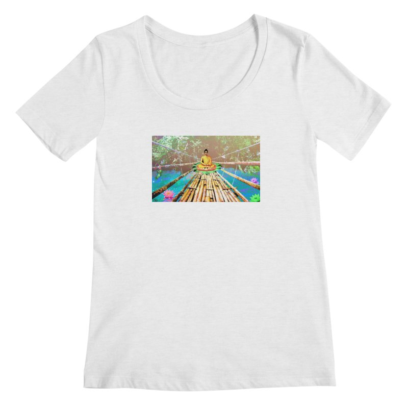 A Bridge to Buddha Women's Scoopneck by InspiredPsychedelics's Artist Shop