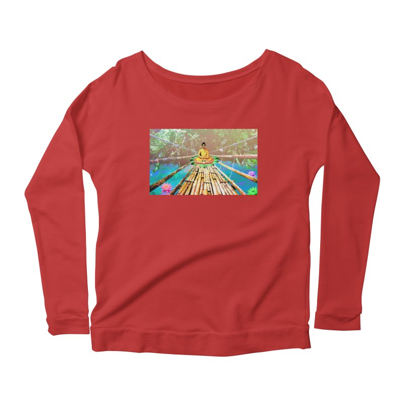 A Bridge to Buddha Women's Scoop Neck Longsleeve T-Shirt by InspiredPsychedelics's Artist Shop