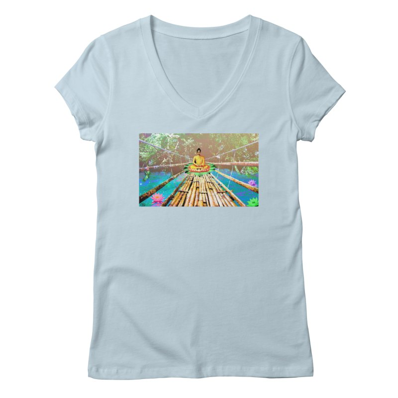 A Bridge to Buddha Women's Regular V-Neck by InspiredPsychedelics's Artist Shop
