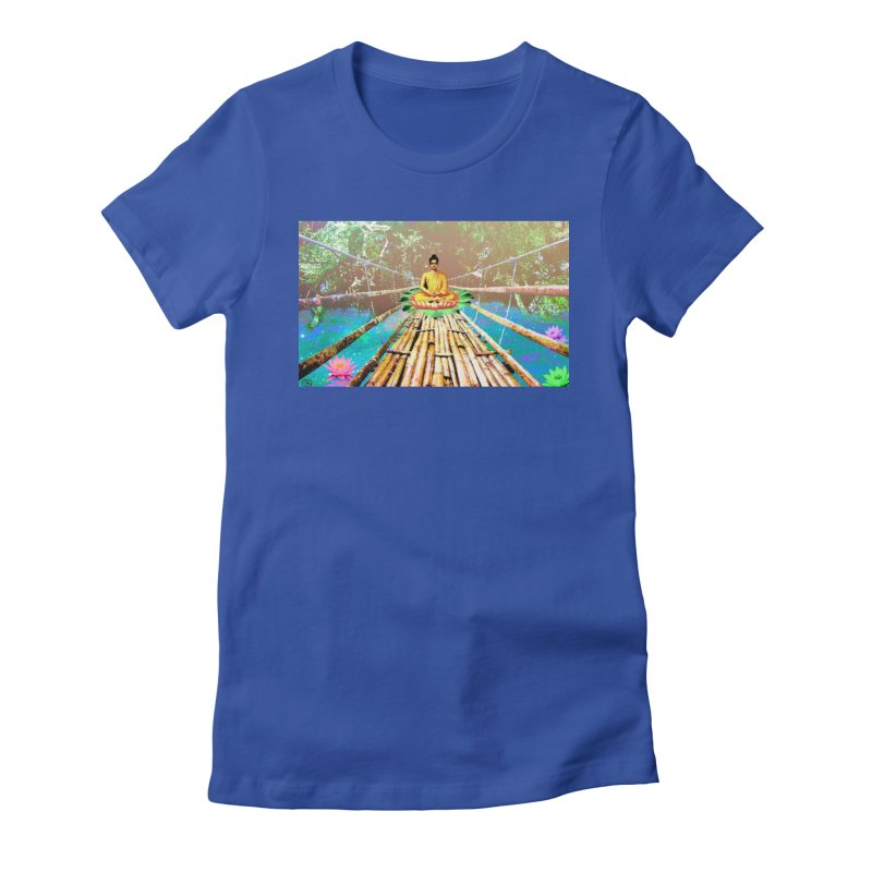 A Bridge to Buddha Women's Fitted T-Shirt by InspiredPsychedelics's Artist Shop