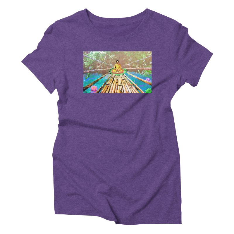 A Bridge to Buddha Women's Triblend T-Shirt by InspiredPsychedelics's Artist Shop
