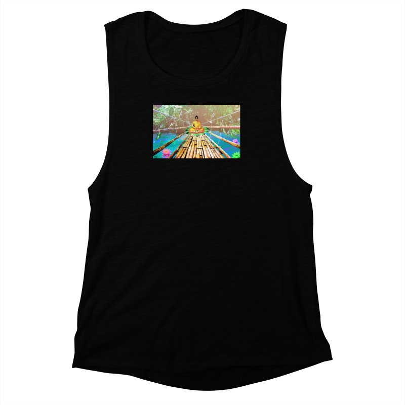 A Bridge to Buddha Women's Muscle Tank by InspiredPsychedelics's Artist Shop