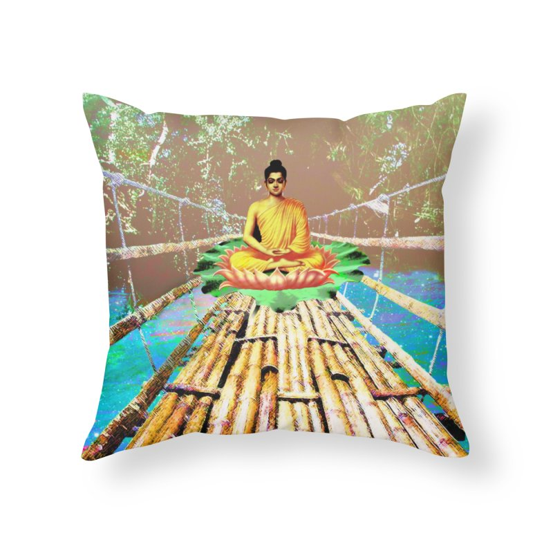 A Bridge to Buddha Home Throw Pillow by InspiredPsychedelics's Artist Shop