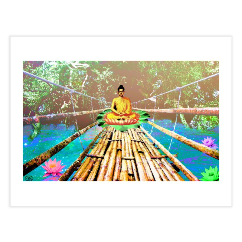 A Bridge to Buddha Home Fine Art Print by InspiredPsychedelics's Artist Shop