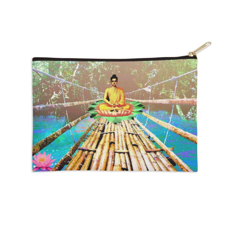 A Bridge to Buddha Accessories Zip Pouch by InspiredPsychedelics's Artist Shop