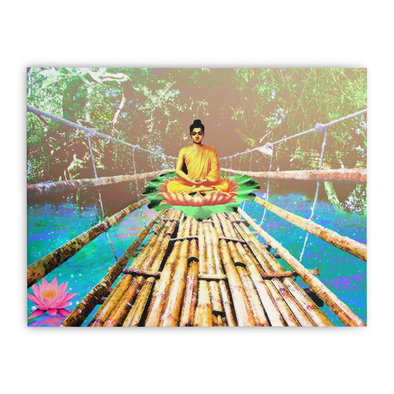 A Bridge to Buddha Home Stretched Canvas by InspiredPsychedelics's Artist Shop