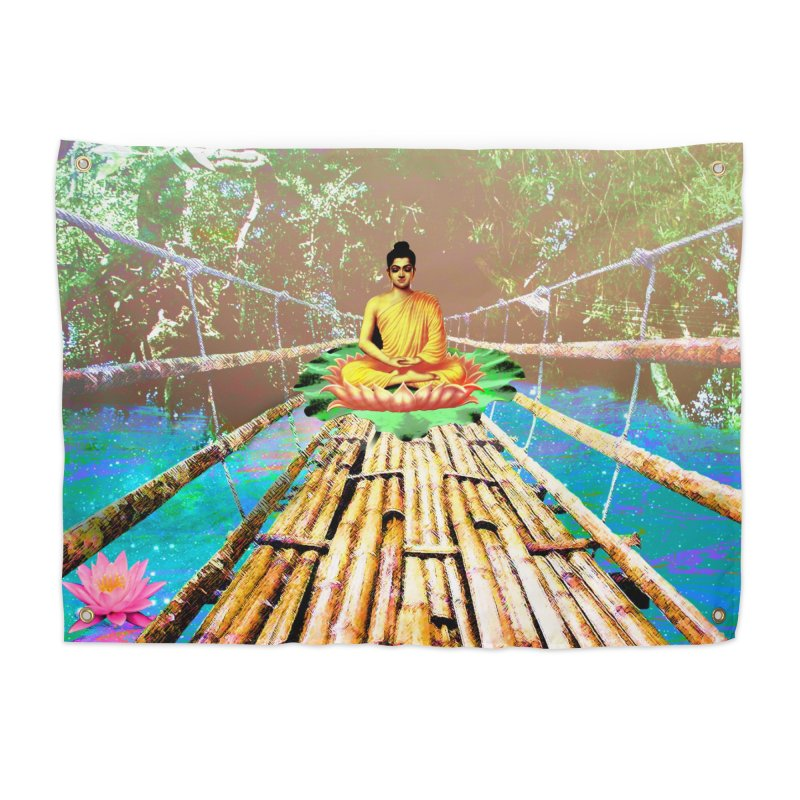 A Bridge to Buddha Home Tapestry by InspiredPsychedelics's Artist Shop