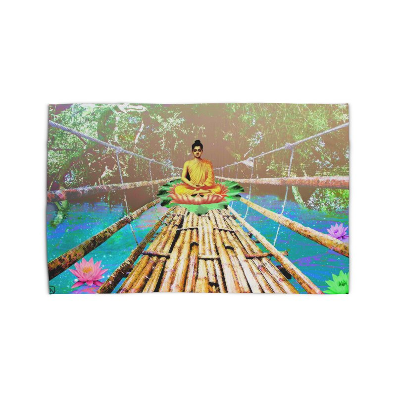 A Bridge to Buddha Home Rug by InspiredPsychedelics's Artist Shop