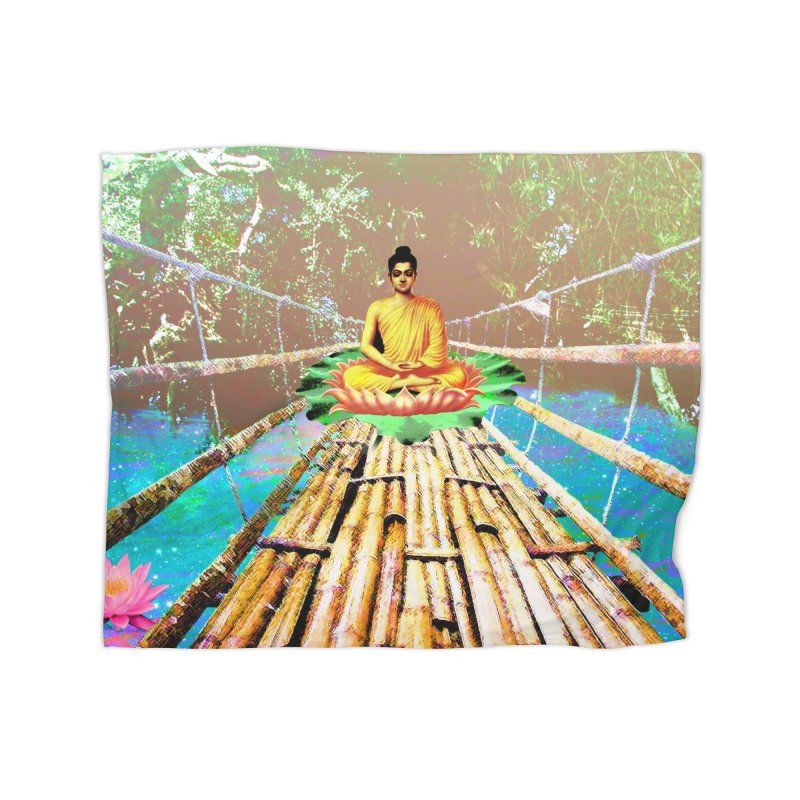 A Bridge to Buddha Home Blanket by InspiredPsychedelics's Artist Shop