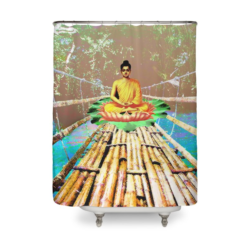 A Bridge to Buddha Home Shower Curtain by InspiredPsychedelics's Artist Shop