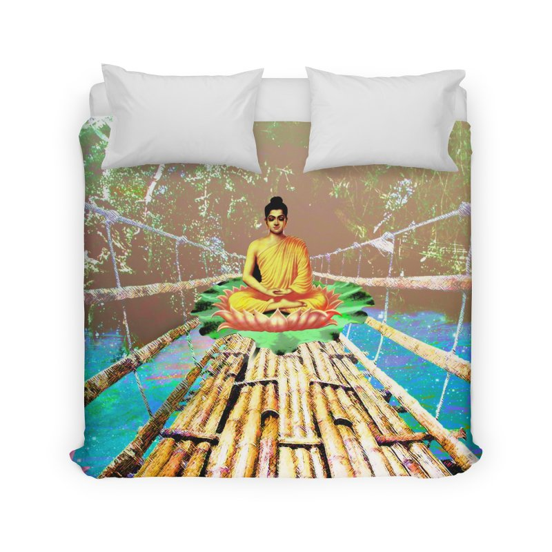 A Bridge to Buddha Home Duvet by InspiredPsychedelics's Artist Shop