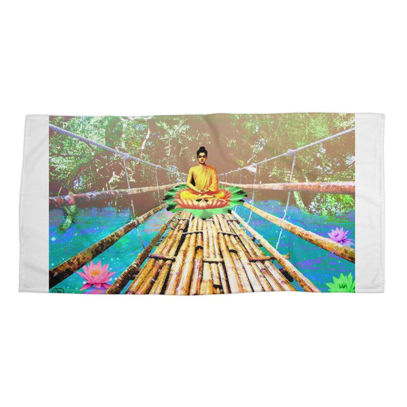 A Bridge to Buddha Accessories Beach Towel by InspiredPsychedelics's Artist Shop