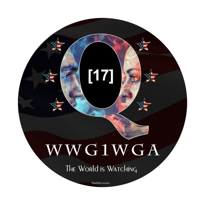Q-Anon WWG1WGA The World is Watching by InspiredPsychedelics's Artist Shop
