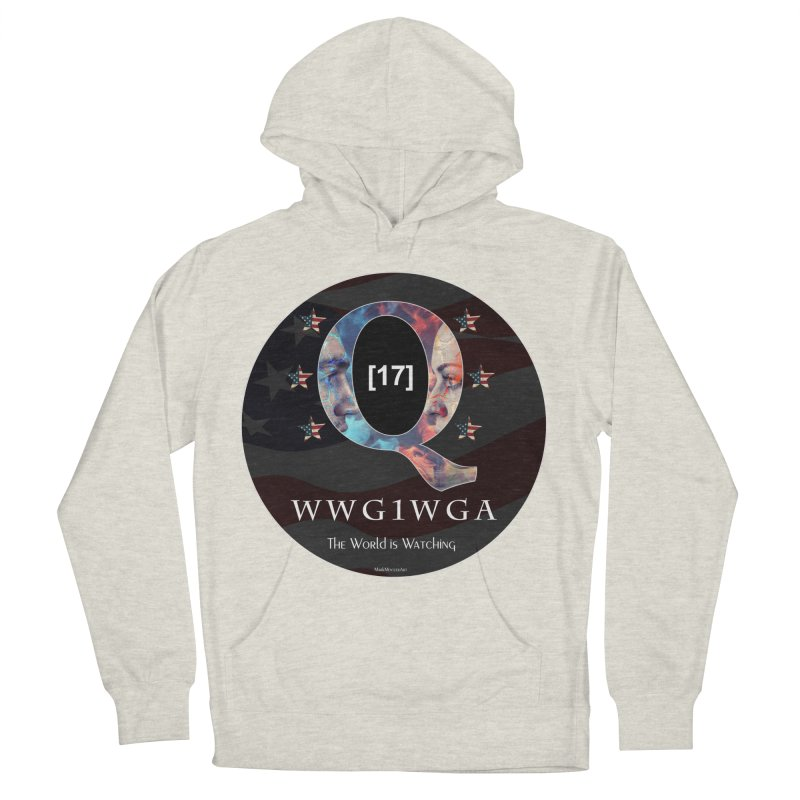 Q-Anon WWG1WGA The World is Watching Women's French Terry Pullover Hoody by InspiredPsychedelics's Artist Shop