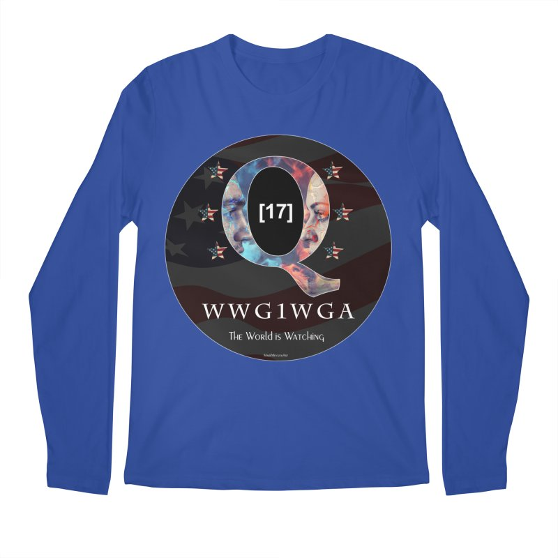 Q-Anon WWG1WGA The World is Watching Men's Regular Longsleeve T-Shirt by InspiredPsychedelics's Artist Shop