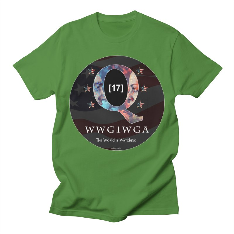 Q-Anon WWG1WGA The World is Watching Men's Regular T-Shirt by InspiredPsychedelics's Artist Shop