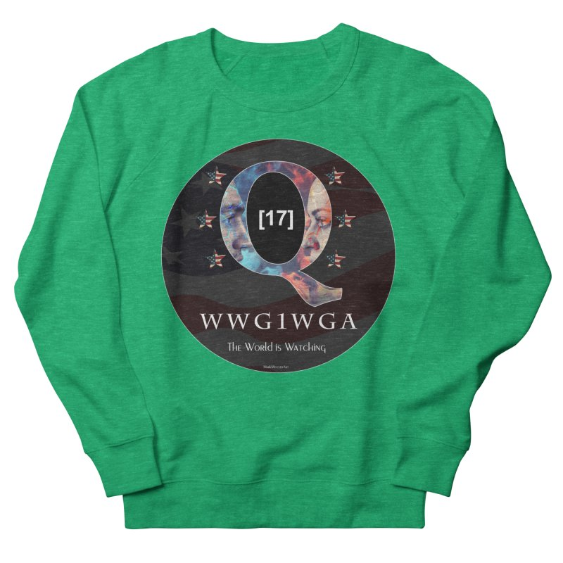 Q-Anon WWG1WGA The World is Watching Men's French Terry Sweatshirt by InspiredPsychedelics's Artist Shop
