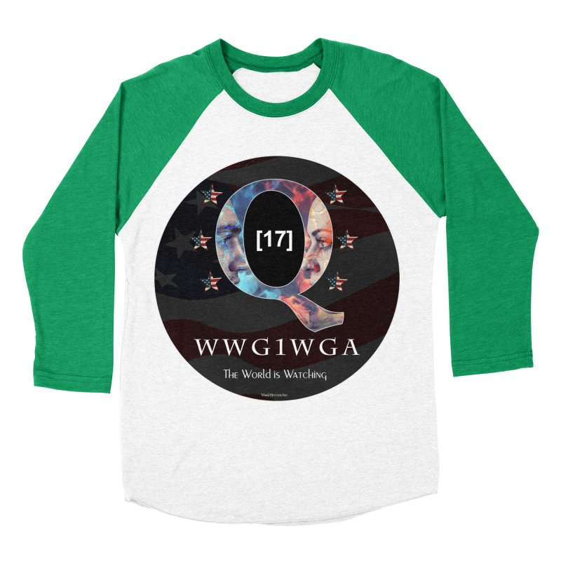 Q-Anon WWG1WGA The World is Watching Women's Baseball Triblend Longsleeve T-Shirt by InspiredPsychedelics's Artist Shop