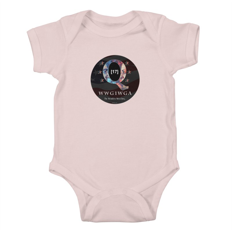 Q-Anon WWG1WGA The World is Watching Kids Baby Bodysuit by InspiredPsychedelics's Artist Shop