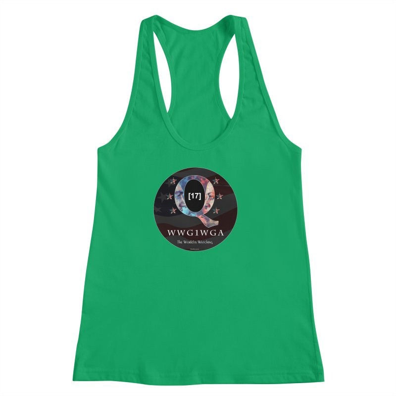 Q-Anon WWG1WGA The World is Watching Women's Racerback Tank by InspiredPsychedelics's Artist Shop