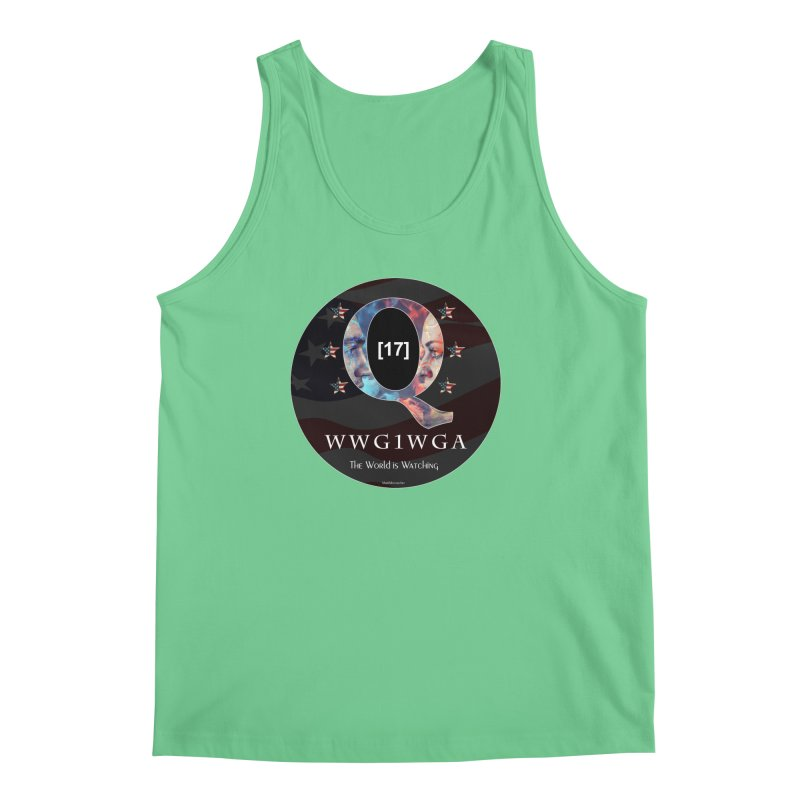 Q-Anon WWG1WGA The World is Watching Men's Regular Tank by InspiredPsychedelics's Artist Shop
