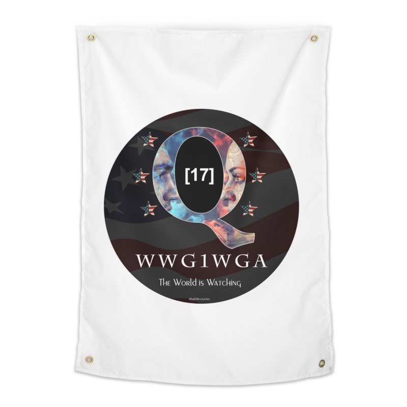 Q-Anon WWG1WGA The World is Watching Home Tapestry by InspiredPsychedelics's Artist Shop