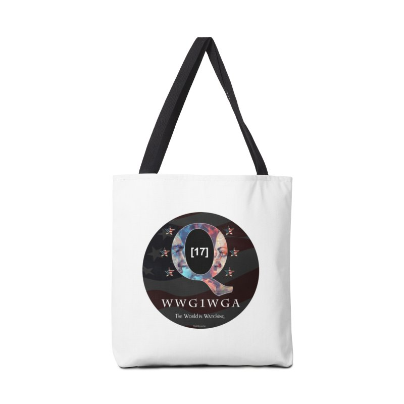 Q-Anon WWG1WGA The World is Watching Accessories Bag by InspiredPsychedelics's Artist Shop
