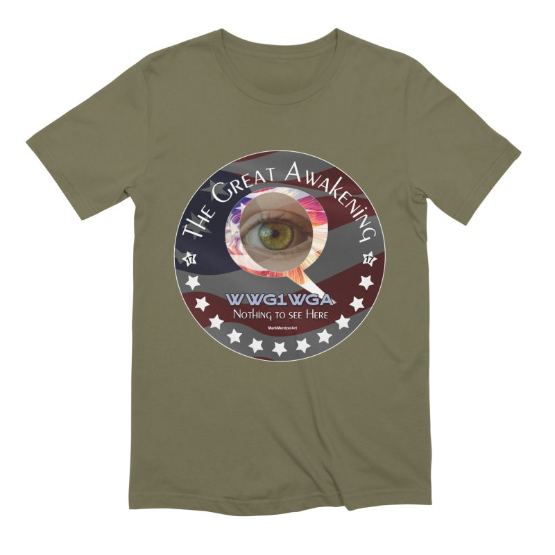 "Q-Anon ""The Great Awakening"" Shirt (Nothing to see Here) Men's Extra Soft T-Shirt by InspiredPsychedelics's Artist Shop"