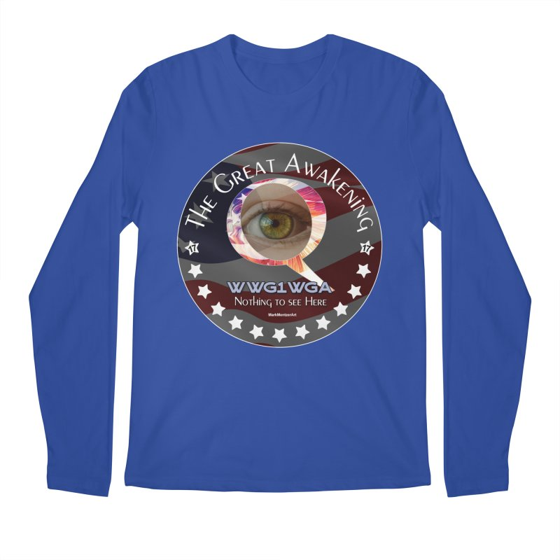 """Q-Anon """"The Great Awakening"""" Shirt (Nothing to see Here) Men's Regular Longsleeve T-Shirt by InspiredPsychedelics's Artist Shop"""