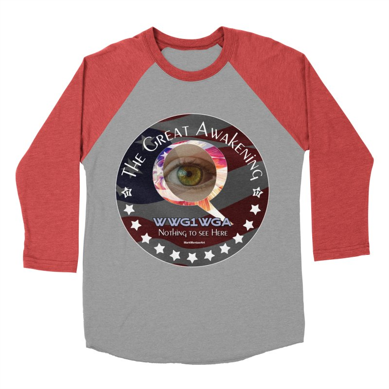 """Q-Anon """"The Great Awakening"""" Shirt (Nothing to see Here) Women's Baseball Triblend Longsleeve T-Shirt by InspiredPsychedelics's Artist Shop"""
