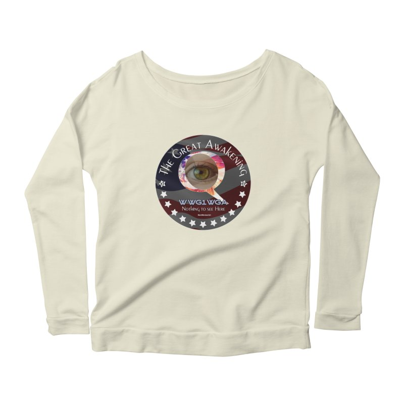 """Q-Anon """"The Great Awakening"""" Shirt (Nothing to see Here) Women's Scoop Neck Longsleeve T-Shirt by InspiredPsychedelics's Artist Shop"""