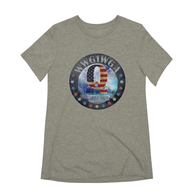 Q-Anon: The Storm is Upon Us Women's Extra Soft T-Shirt by InspiredPsychedelics's Artist Shop