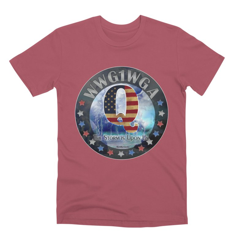 Q-Anon: The Storm is Upon Us Men's Premium T-Shirt by InspiredPsychedelics's Artist Shop