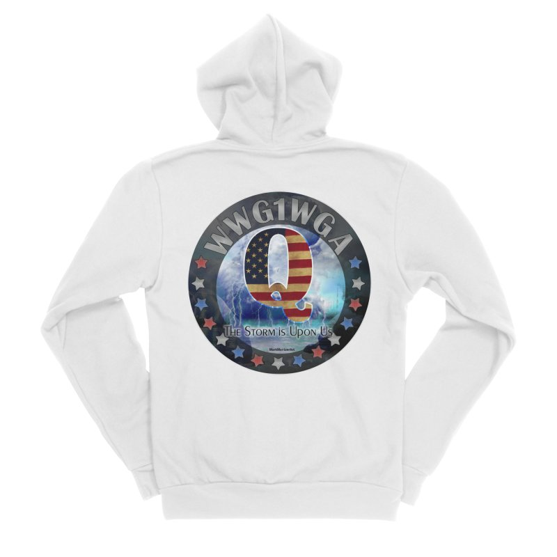 Q-Anon: The Storm is Upon Us Women's Sponge Fleece Zip-Up Hoody by InspiredPsychedelics's Artist Shop