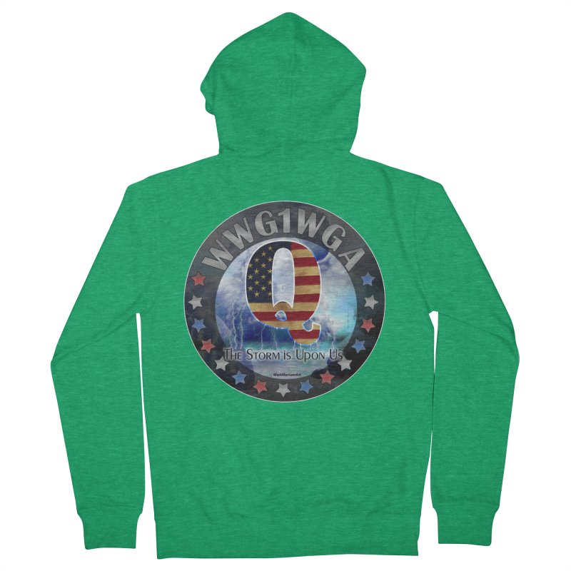 Q-Anon: The Storm is Upon Us Women's French Terry Zip-Up Hoody by InspiredPsychedelics's Artist Shop