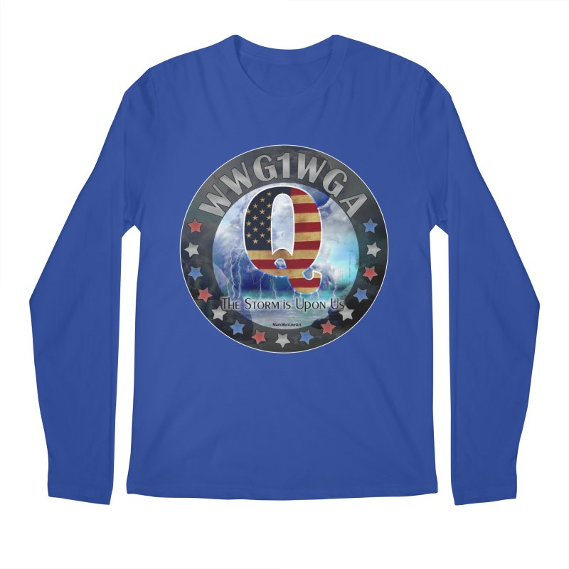 Q-Anon: The Storm is Upon Us Men's Regular Longsleeve T-Shirt by InspiredPsychedelics's Artist Shop