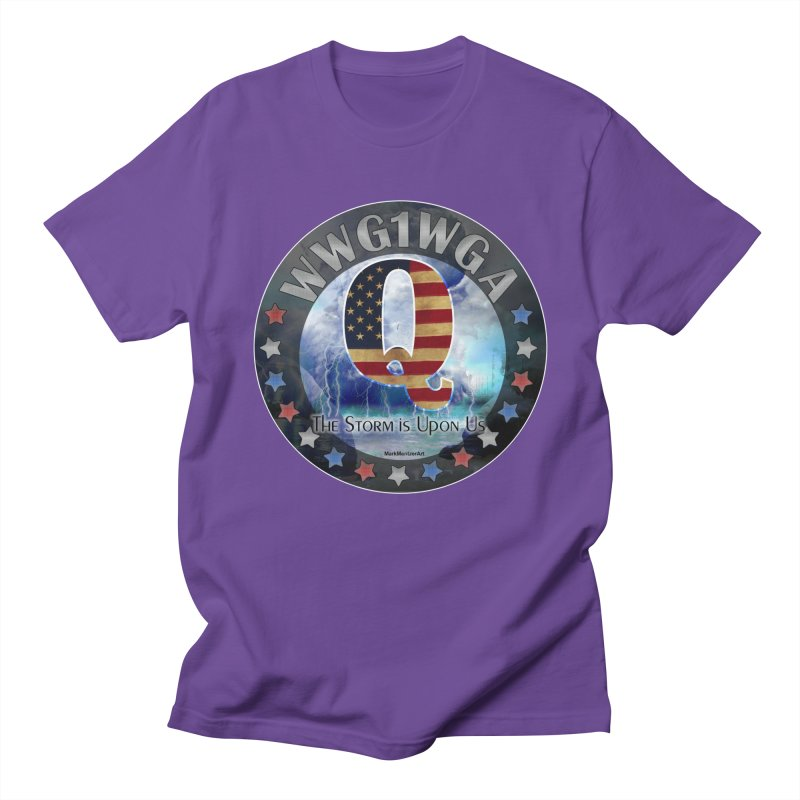 Q-Anon: The Storm is Upon Us Men's Regular T-Shirt by InspiredPsychedelics's Artist Shop